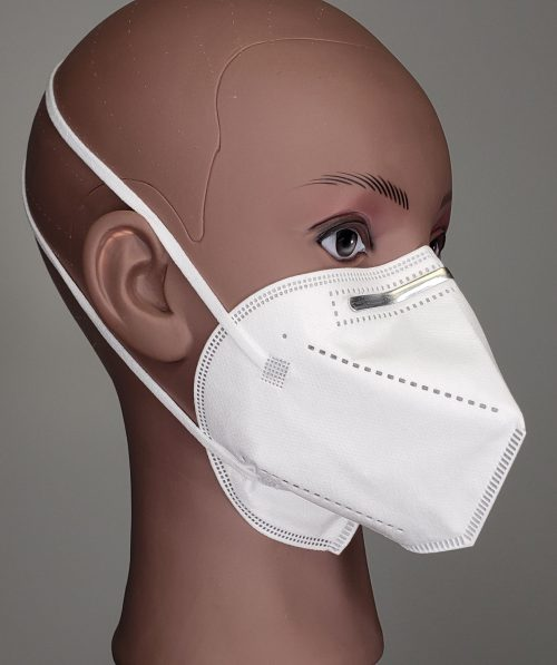 N95 level mask side view