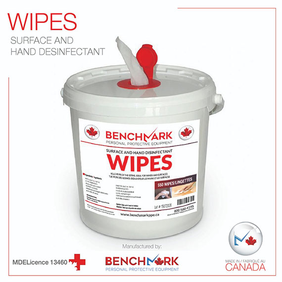 Jumbo Pail 550 Sanitizing Wipes