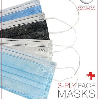 3 ply disposable face masks made in Canada